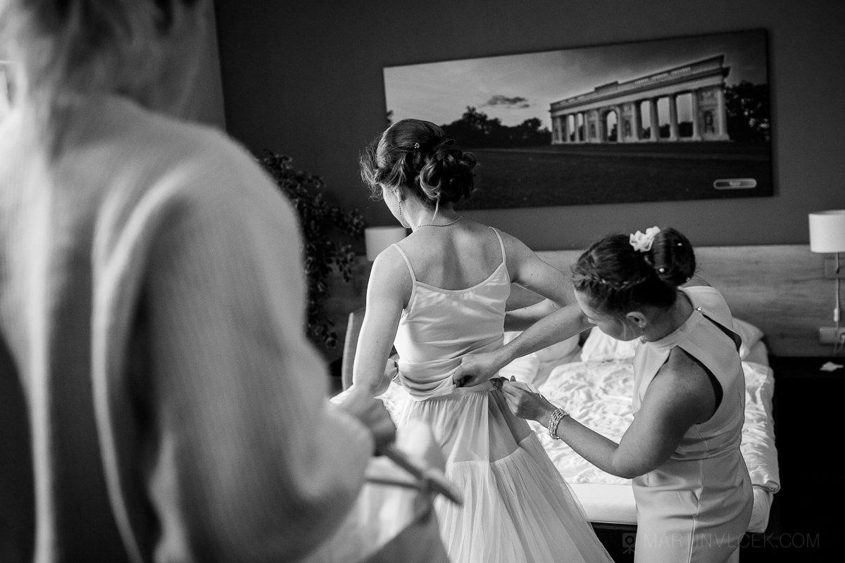 Vinařství u Kapličky příprava nevěsty